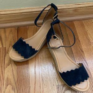 J.crew wedge sandals